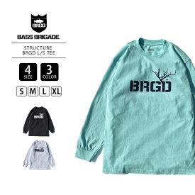 【送料無料】バスブリゲード ロンT BASS BRIGADE ロンT ロングTシャツ 長袖 STRUCTURE BRGD L S TEE 474-STBR01