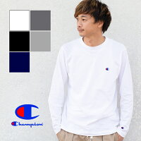6542ce4577e38a PR 【Champion チャンピオン】ミニ刺繍ロゴ クルーネックL/S Tシ.