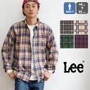 【 Lee リー 】 BD ネル チェック L/S シャツ LT0646 / ボタンダウン Leeロゴ刺繍 薄手 微起毛 長袖 アメカジ トップ…