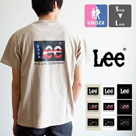 【SALE!!】【 Lee リー 】 ボックス ロゴ バック プリント S/S Tシャツ LT4010 / 半袖 BACK PRINT TEE クルーネック 丸首 ロゴt プリントt lee tシャツ カットソー トップス メンズ レディース ユニセックス 20SS/