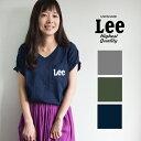 【Lee リー】 ロゴポケットS/S Vネック Tシャツ LS1243/レディース/メンズ/ユニセックス/男女兼用/LEE/Leeロゴ/カッ…