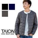 【TAION タイオン】CREW NECK BUTTON INNER DOWN JACKET クルーネックボタン インナーダウンジャケット TAION-104 (MEN'S)/トップス/長袖/インナー