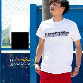 【MANASTASH マナスタッシュ】CAMPERグラフィックロゴS/S Tシャツ 7183102 /半袖/クルーネック/丸首/ロゴT/アウトドア/イラストレーター/BEN LAMB/ベン・ラム/トップス/カットソー/メンズ/
