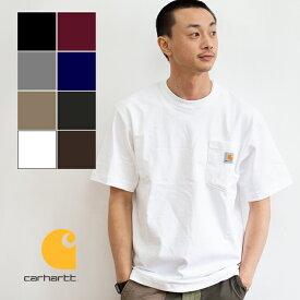 【carhartt カーハート】WORKER POCKET S/S T-SHIRTS ワーカーポケット 半袖Tシャツ K87 / トップス 半袖 Tシャツ ショートスリーブ クルーネック 丸首 ロゴ シンプル USA カジュアル アメカジ carhartt tシャツ カーハート tシャツ メンズ レディース ユニセックス