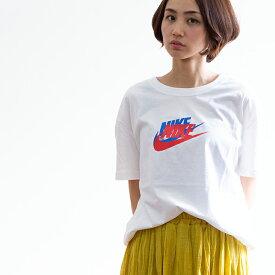 【SALE!!】【NIKE ナイキ】W TEE BOY FUTURA ウィメンズ ボーイ フューチュラ S/S Tシャツ AR5333 /半袖/ショートスリーブ/LOOSE FIT/ルーズフィット/オーバーサイズ/肩落ち/スウッシュ/ブランドロゴ/アイコン/プリントT/ロゴT/ナイキ Tシャツ/レディース/