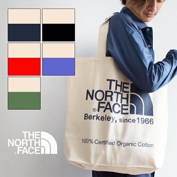 【THE NORTH FACE ザ ノースフェイス】 TNF オーガニックコットン トートバッグ NM81616/エコバッグ/肩掛け/鞄/north/ナチュラル/ロゴ/プリント/キャンバス/カジュアル/アウトドア