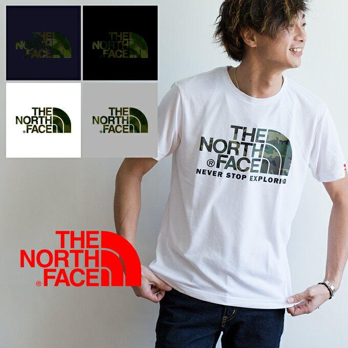 【THE NORTH FACE ザノースフェイス】S/SカモフラージュTNFロゴTシャツ NT31622 /クルーネック/迷彩/ロゴT/プリントT/半袖/トップス/カットソー/ブランドロゴ/ユニセックス/メンズ/レディース/