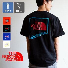 【 THE NORTH FACE ザ ノースフェイス 】 S/S Extreme Tee エクストリーム ロゴ S/S Tシャツ NT32033 / 半袖 丸首 クルーネック バックプリント ロゴt プリントt ノース tシャツ north tシャツ トップス メンズ 20SS/
