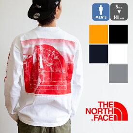 【 THE NORTH FACE ザノースフェイス 】 L/S Sleeve Graphic Tee ロングスリーブ グラフィック Tシャツ NT32042 / トップス Tシャツ ロンT 長袖 バックプリント ロゴ メンズ ユニセックス ヨセミテ ヘビーコットン 20SS