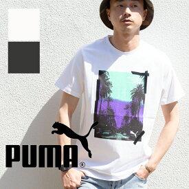 【SALE!!】【PUMA プーマ】GRAPHIC PALMS PHOTO SS Tee パームツリー グラフィック 半袖Tシャツ 579125 / puma メンズ puma tシャツ プーマ ウェア プーマ メンズ ウェア プーマ tシャツ プーマ tシャツ メンズ