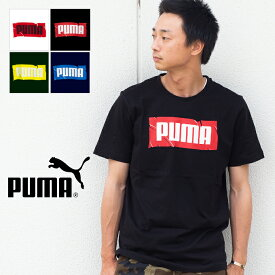【 PUMA プーマ 】PUMA Wording SS TEE ボックスロゴ 半袖 プリント Tシャツ 854072 / puma tシャツ puma メンズ puma レディース トップス クルーネック トレーニングウェア スポーツウェア 丸首 ユニセックス