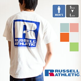 【SALE!!】【 RUSSELL ATHLETIC ラッセルアスレティック 】 デザインロゴ バックプリント 半袖 Tシャツ RC-19040 / トップス カットソー russell メンズ russell Tシャツ ラッセルアスレティック Tシャツ プリントTシャツ バックプリント S/S クルーネック プリントT 20SS