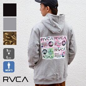 【SALE!!】【 RVCA ルーカ 】 RVCA メンズ SERIGRAPH HOODIE セリグラフ 裏起毛 パーカー AJ042-019 / メンズ トップス アウター スウェット パーカー 丸首 ロゴ プリント ブランド カジュアル ファッション デザイン 人気