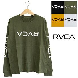 【 RVCA ルーカ 】 BIG FLIP RVCA LS TEE ロングスリーブ ロゴ Tシャツ AJ042054 / カットソー ロンT ロゴT メンズ レディース ユニセックス ブランド 秋冬 長袖 トップス rvca