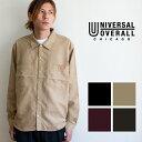 【SALE!!】【 UNIVERSAL OVERALL ユニバーサル オーバーオール 】 フェイク スエード オープンカラーシャツ U813126 …