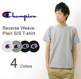 e2615631 Champion (champion) weave short sleeve solid color tee shirts men's  heavyweight T shirt thick