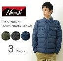 NANGA(ナンガ) Down Shirts ダウン シャツ メンズ 杢柄 素材 防寒 フラップポケット シャツ ジャケット アウトドア …