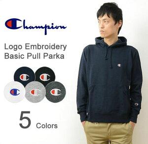 Champion(チャンピオン) ロゴ 刺繍 ベーシック プルパーカー メンズ レディース Cロゴ トレーナー スウェット スエット 裏毛 パイル タオル フード フーディ アメカジ スポーツ 大きいサイズ