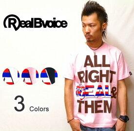 RealBvoice(リアルビーボイス) 『All Right Real & Them』 ユニオンジャックモチーフプリント S/S Tシャツ 半袖Tシャツ 【2104933】