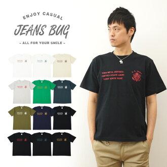 """U. S. ARMY JEANSBUG ORIGINAL PRINT T-SHIRT オリジナルユーエスアーミー military print short sleeve T Shirt American army military"