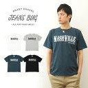 『NASHVILLE』 JEANSBUG ORIGINAL PRINT T-SHIRT オリジナルナッシュビル アメカジプリント 半袖Tシャツ シンプル 英字 メンズ レディース 大きいサイズ ビッグ