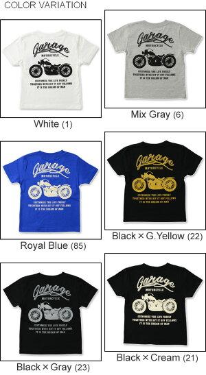(キッズTシャツ)『MOTORCYCLE』オリジナルバイカープリントキッズ半袖Tシャツアメリカンバイク親子お揃い子供服こども用子どもベビー男の子女の子おそろいペアルック出産祝いプレゼントギフト90100110120130140150160【KDT-MOTOR】
