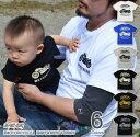 (キッズTシャツ)『MOTORCYCLE』 オリジナル バイカー プリント キッズ 半袖 Tシャツ アメリカン バイク 親子ペア 子供服 こども ジュニア ベビー 男の子 女の子 お揃い 親子 ペアル