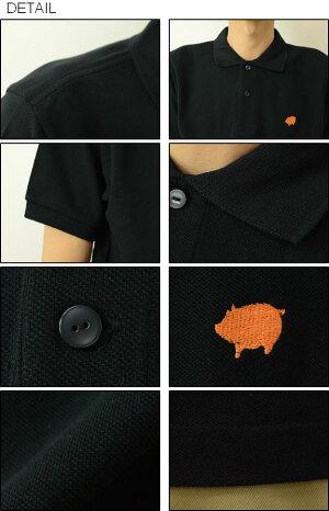 (OPポロシャツ)『Pig』JEANSBUGORIGINALPOLO-SHIRTオリジナルロゴワンポイント刺繍半袖ポロシャツ豚モチーフブタピッグアメカジメンズレディース大きいサイズビッグサイズ対応【OPPL-PIG】