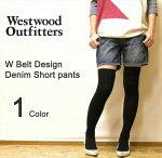 WestwoodOutfittersWベルトデザインデニムショートパンツ
