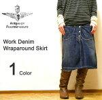 Antgauge(アントゲージ)ワークデニムミドル丈巻きスカート