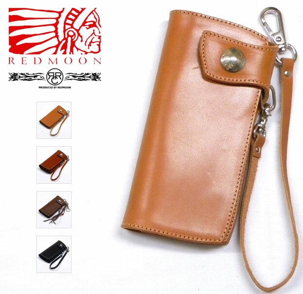 REDMOON/RRC Leather Long Wallet [RRC-NCW-02C] レッドムーン/ダブルアールシー コンチョ付き本革長財布 サイフ ウォレットチェーン付属