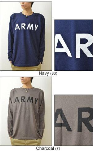 (ロンT)『ARMY』JEANSBUGORIGINALPRINTLongSleevesTシャツオリジナルアーミーミリタリープリント長袖Tシャツアメリカ陸軍米軍シンプル英字メンズレディース大きいサイズビッグサイズ対応【LT-ARMY】