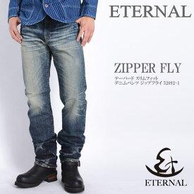 ETERNAL エターナル ジーンズ テーパード スリムフィット デニムパンツ ジップフライ 52092-1【再入荷】