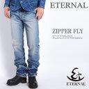 エターナル ETERNAL ジーンズ テーパード スリムフィット デニムパンツ ジップフライ 52092-2【再入荷】
