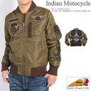 【セール】INDIAN MOTOCYCLE インディアンモトサイクル MA-1 フライトジャケット チマヨジャガード切替&パッチカスタム IMJK-601-VGREEN