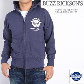 """BUZZ RICKSON'S バズリクソンズ フルジップ スウェット パーカー """"U.S. AIR FORCE"""" BR65599-128"""