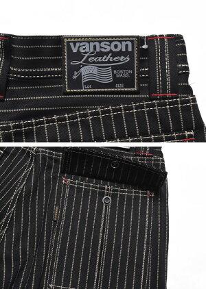 バンソンVANSONロゴ刺繍ブッシュパンツブラックウォバッシュNVBL-2005-BLACKWABASH【2021新作】