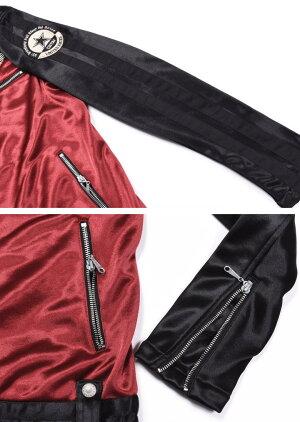 【当店別注】VANSONバンソンライダースフライングエンブレム刺繍&ワッペンボンディングライダースジャケットJFV-802-WINERED-BLACK