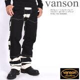 VANSONバンソンダブルニーペインターパンツプリズナーボーダー×ブラックNVBL-706-BORDER