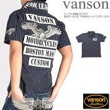 VANSONバンソンポロシャツイーグル刺繍BOXロゴ袖ポケット付き半袖ポロシャツNVPS-2004-WABASH【2020春夏新作】
