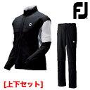 【ゴルフ】【レインウエア】フットジョイ FOOTJOY メンズ ドライジョイズ レインスーツ #85374 上下セット ブラック