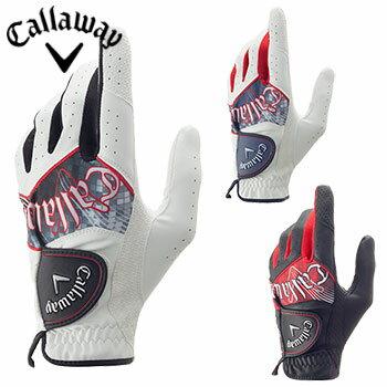【ゴルフ】【グローブ】キャロウェイ Callaway Graphic Glove 17 JM グラフィック グローブ メンズ 左手用