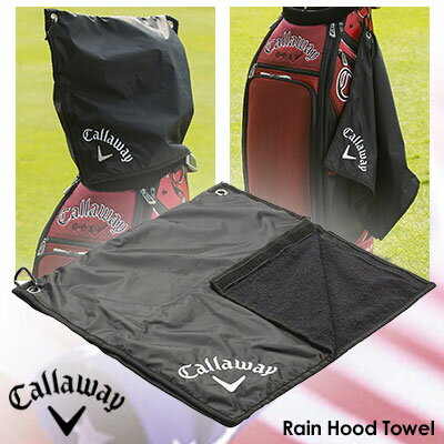 【ゴルフ】【タオル】【防水】キャロウェイ Callaway Rain Hood Towel ブラック USA直輸入品