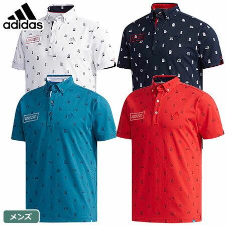 【ゴルフ】【ポロシャツ】アディダス adidas メンズ ADICROSS シティモノグラム S/S ポロシャツ CCO41 2018春夏