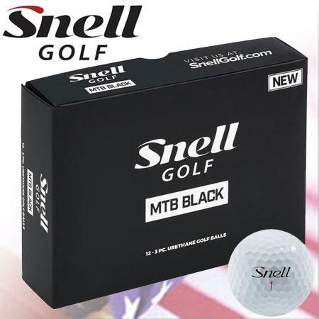 【半期決算セール対象品】【大注目商品】【ゴルフ】【ボール】スネルゴルフ Snell GOLF 2018 MTB BLACK (MY TOUR BALL BLACK) マイツアーボール ブラック [1ダース](USA直輸入品)【飛距離重視系】【HALFSALE2018】