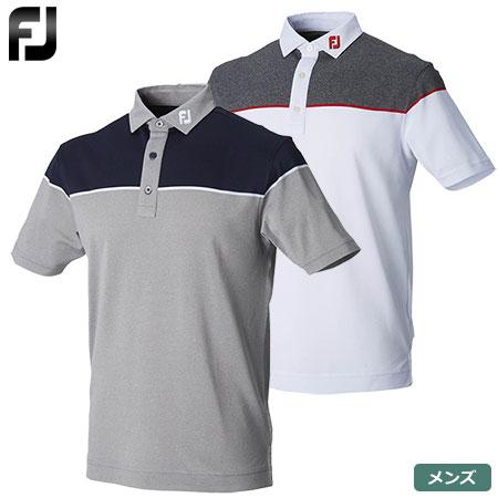 【ゴルフ】【ポロシャツ】FOOTJOY フットジョイ メンズ カラーブロック カノコシャツ FJ-S18-S09 2018春夏