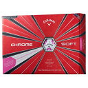【数量限定】【ボール】キャロウェイ Callaway 2018 CHROME SOFT TRUVIS (クロムソフト トゥルービス)ボール ピンク 1…