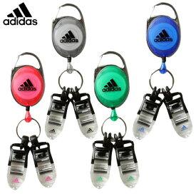 【ゴルフ】【キーホルダー】adidas アディダス クリップ&マルチホルダー(JM313)【クリップ】