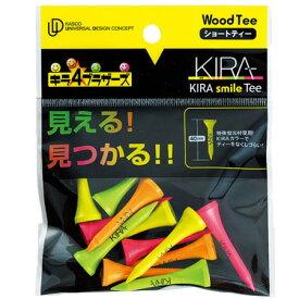 【ゴルフ】【ティー】キャスコ Kasco KIRA Smileティー ショート 全長40mm