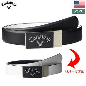 【ゴルフ】【ベルト】Callaway キャロウェイ メンズ Reversible Belt CGAS70E2-002 ブラック USA直輸入品